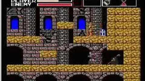 Akumajou Dracula Vampire Killer MSX2(stage 2)