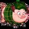 Green Plaid Pig