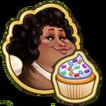 Mia with Cupcake