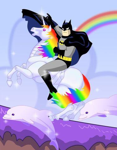 File:Batman riding a unicorn.jpg