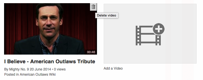 Deleting a video