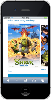 WikiShrek mobile before