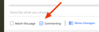 Commenting checkbox-1
