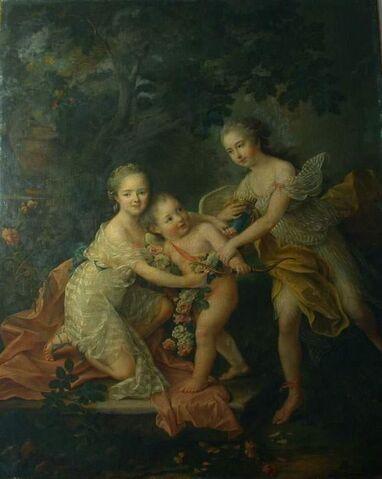File:1762 oil painting Children of the Duke of Orléans by François-Hubert Drouais.jpg