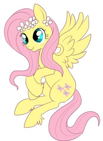 File:FANMADE fluttershy flower crown.jpg