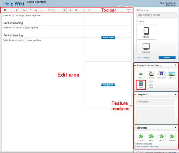 Editing toolbar video uploadv2