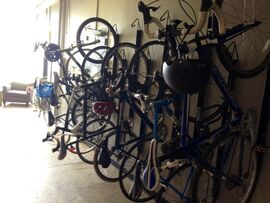 Wall of bikes