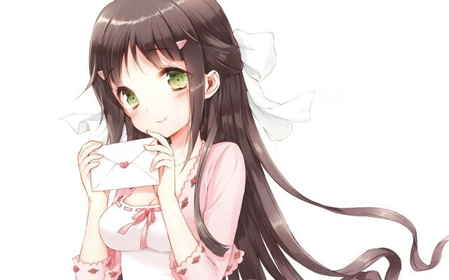 File:Long-Hair-Green-Eyes-Blush-ANime-Girls-Letter-White-Background-Black-Hair-Tsuruma-Konoe-Kono-Naka-Ni.jpg