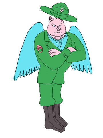 File:Watashi wa Clipart Of A Cartoon Sergeant pig Standing With Folded Arms Royalty by oga masatsuki.jpg