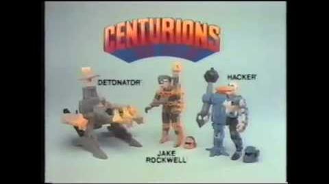 Centurions - Action Figures - Jake Rockwell - Hacker - Detonator - TV Commercial - Retro Toys - 1986