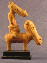 A man ride a horse,Nok terracotta figurine