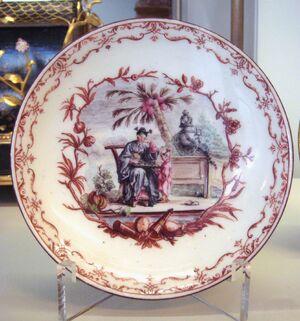 Vincennes soft porcelain plate 1749 1753