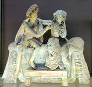 Couple bridal bed Louvre Myr268