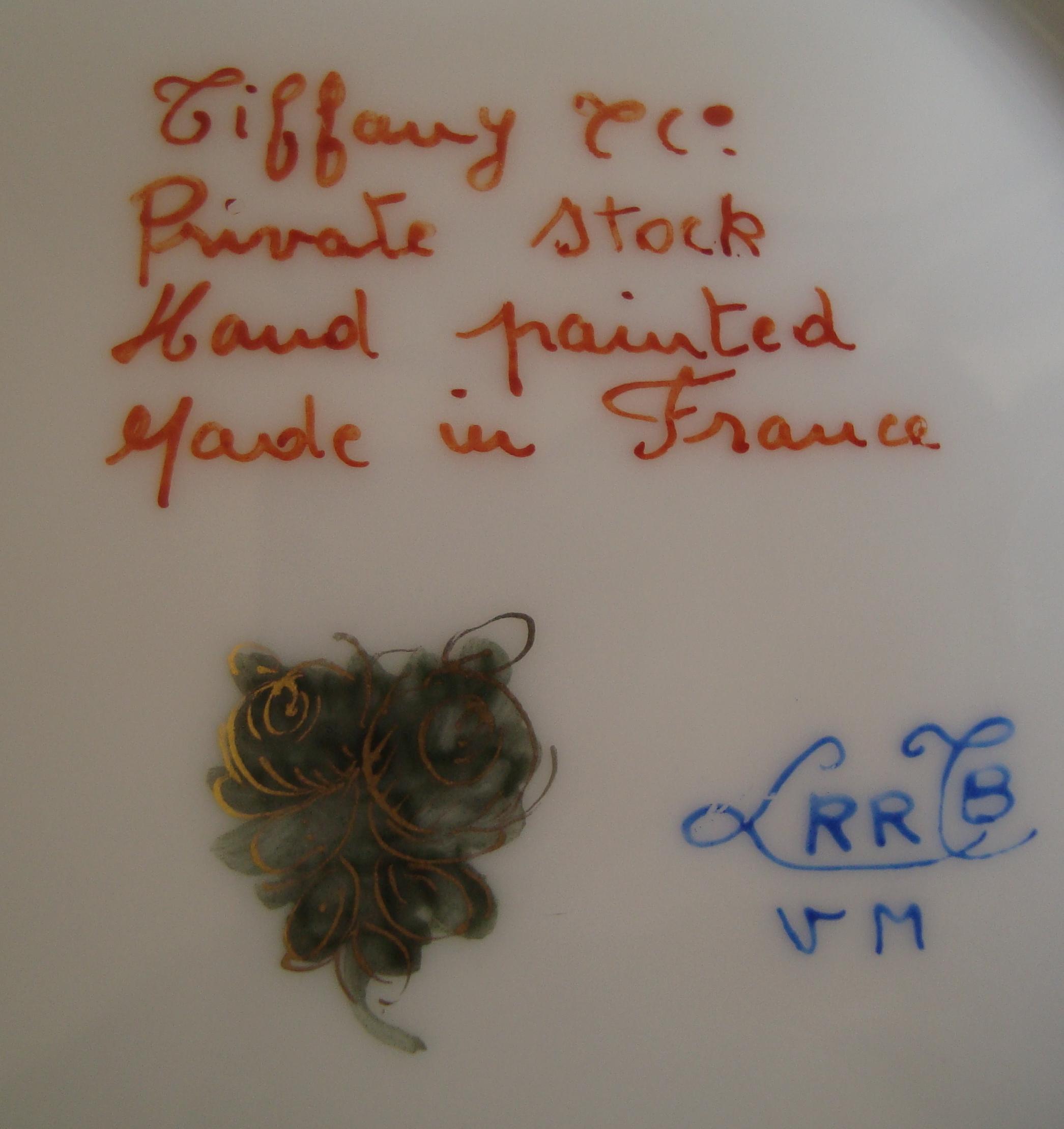 Marques porcelaine Le Tallec pour Tiffany