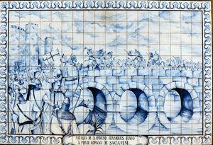 Batalha de D. Afonso Henriques junto àponte romana em Sacavém