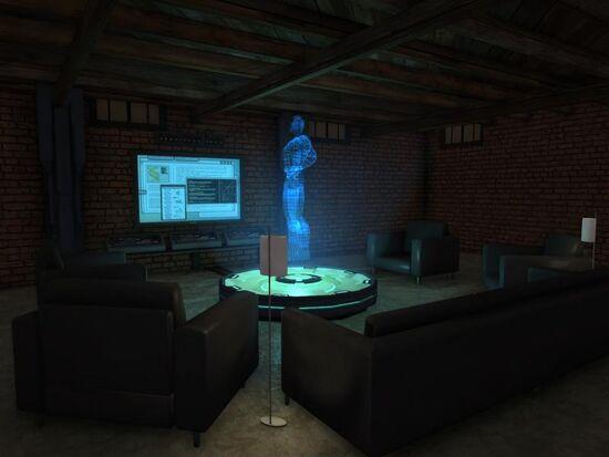 Basement - Social Area - Tech - Holographic Hero