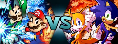 Mario & Luigi VS Sonic & Tails (MM875)