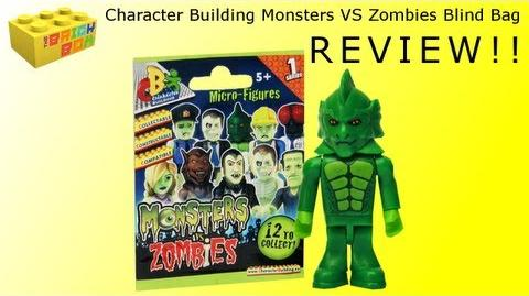 Character Building Monsters VS Zombies Minifigures Blind Bag Review