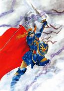 Dragon Quest - The Decedent of Erdrick Artwork by Mutsumi Inomata