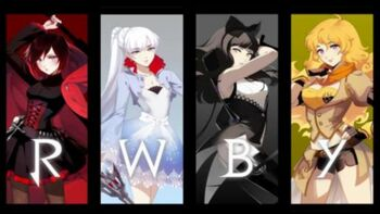 Official logo for RWBY