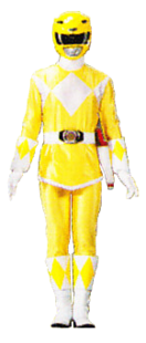 Skirted version of Yellow Mighty Morphin Power Ranger