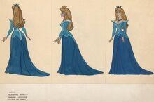 Aurora Blue Dress Concept Art