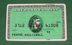 Phoebe's credit card