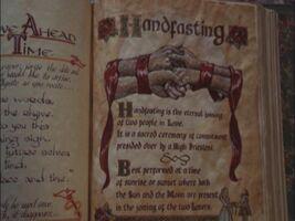 Handfasting ritual bos