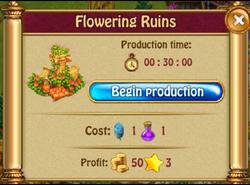 Flowering ruinsP