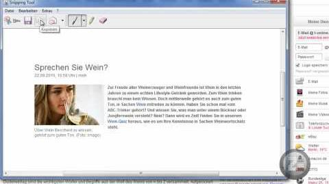 Windows Screenshot leicht gemacht (Snipping Tool)