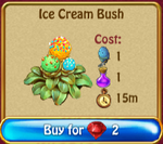Ice cream bush