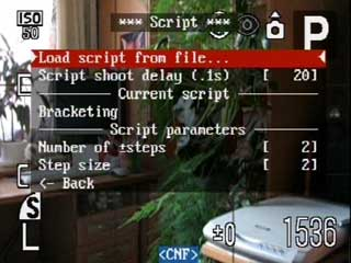 Script menu