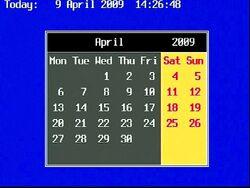 Calendar brt