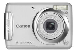 Canon-powershot-a480-siliver-front