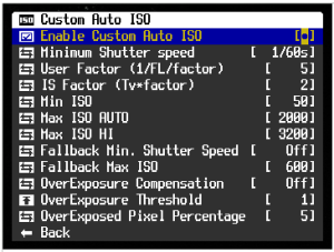 CustomAutoISO