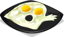 Dish-Ghost Shaped Egg
