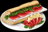 Dish-Tomato Sandwich