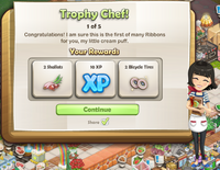 Goal-Trophy Chef! Part 1 Rewards