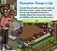 Pumpkin Usage is Up