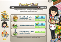 Goal-Trophy Chef! Part 1 Objectives
