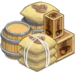 Buildable-Extra Large Coffee Crate Open