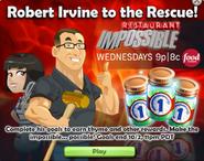 Robert Irvine event ad on ChefVille