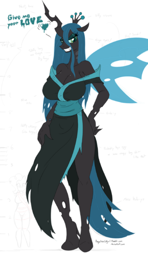 Queen chrysalis wip by angelthecatgirl-d5jvw9x