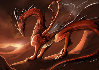 Dragon on a desert land by dragon de lune-d50g82h