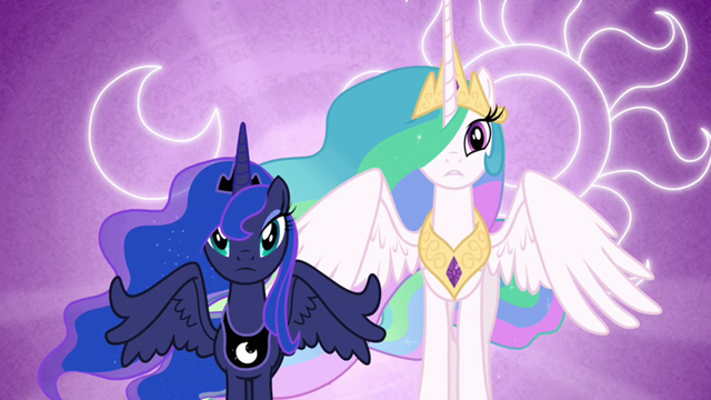 File:800px-Luna and Celestia with their cutie marks in the background S3E01.png