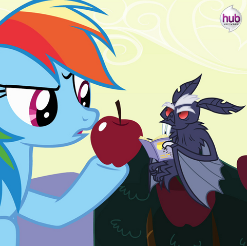 File:Rainbow Dash with the vampire fruit bat promotional S4E07.png