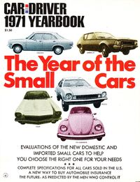 Car and Driver 1971 Yearbook cover