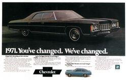 1971 Caprice & Vega Ad