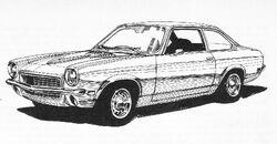 '71 Vega sedan - Road & Track June 1973