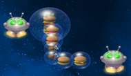 Chicken Invaders Ultimate Omelette Space Burger Headquarters Supply Droid Supplying Space Burgers
